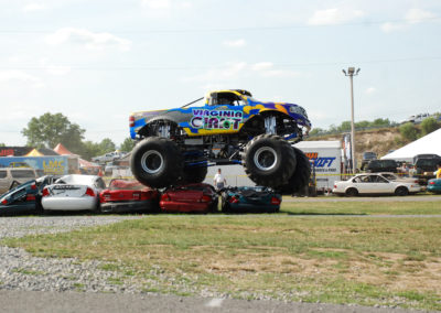 the virginia giant monster truck at the 2011 truck nationals crushing cars