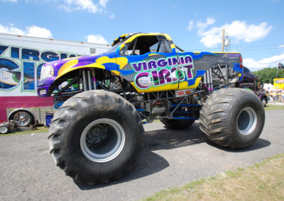 Side view of the virginia giant monster truck
