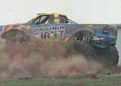 virginia giant monster truck doing donuts