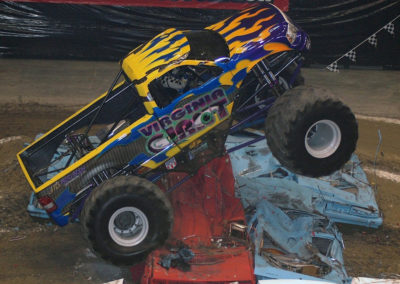 virginia giant monster truck crushing cars