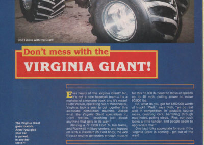 picture of virginia giant from big trucks magazine page 1