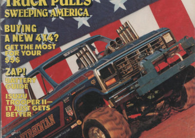 Cover of Four Wheeler Magazine 1985